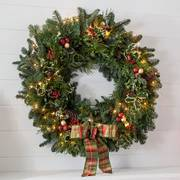 24-Inch Noble Fir Wreath with Lights