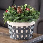 Winter Has Come Basket Centerpiece