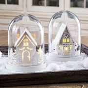 Illuminated Snowy Scene - Set of 2