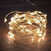 Bubble Lights - White Lights with Silver Wire - Pack of 10