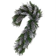 Silver Shimmer Candy Cane Wreath