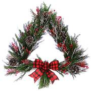 Joyful Pine & Berry Tree Wreath