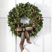Winter Woods Wreath 30-inch with Lights