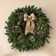 24-inch Snowfall Splendor Evergreen Wreath