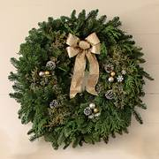 30-inch Snowfall Splendor Evergreen Wreath