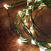 Bubble Lights - White with Green Wire