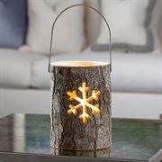 Woodland Log Lantern