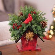 Home for Christmas Birdhouse