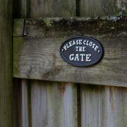 Please Close the Gate Sign Alternate Image 1