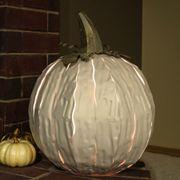 Squatty White Pumpkin