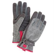 Gray Tweed Glove Med/Lg