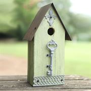 Metal/Wood Birdhouse Purple