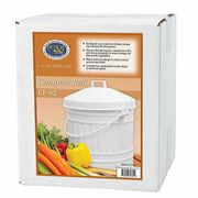 Kitchen Compost Pail - White Enamel