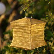 Bronze Silk Effects Square Solar Lanterns