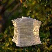 Pearl Silk Effects Square Solar Lanterns