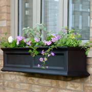 Fairfield Window Box Black 4 Feet
