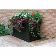 Black 20in x 36in Fairfield Patio Planter
