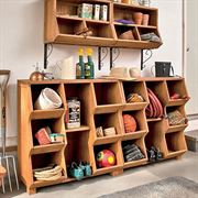 6-Compartment Storage Cubby