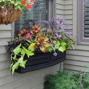 Nantucket Window Box-Black 4 Feet