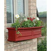Nantucket Window Box-Red 4 Feet
