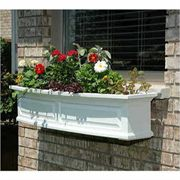 Nantucket Window Box-White 4 Feet