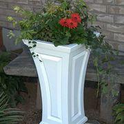 White 16in x 28in Tall Cambridge Planter