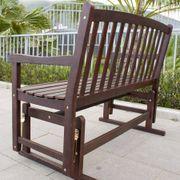 Natural Acacia Glider Bench