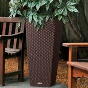 Lechuza Mocha 22 inch All in One Cube Cottage Self Watering Planter