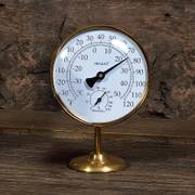 Vermont Portable Weather Station Living Finish Brass