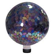 10-inch Mosaic Gazing Ball - Purple