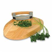 Herb Chopping Block and Knife Gift Set