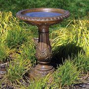Antique Bronze Birdbath - <b><font color=bb0000>Free Shipping!</font></b>