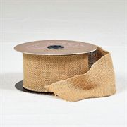 Hopsack Burlap Wired Ribbon - 2.5-inch