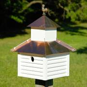 Rusty Rooster Birdhouse - Cypress and Copper