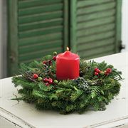 Balsam and Berry Evergreen Candle Ring