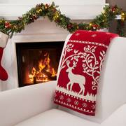 Reindeer Knit Throw