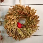 Cardinal Birdseed Wreath