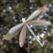 Iron Dragonfly Garden Ornament