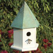 Copper Songbird Bird House - White/Verdigris