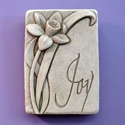 Joy Daffodil Botanical Plaque