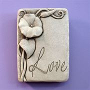 Love Morning Glory Botanical Plaque