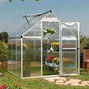 Nature Greenhouse 6 x 6 Silver