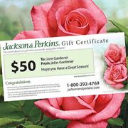 Jackson & Perkins Gift Certificate