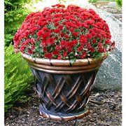 Basketweave Copper Planter  - <b><font color=bb0000>Free Shipping!</font></b>