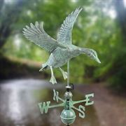 Blue Verde Copper Landing Duck Weathervane