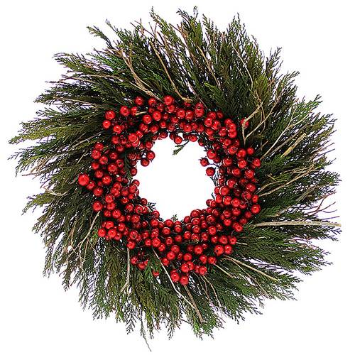 Sprigs & Sprays Cranberry Cedar Wreath