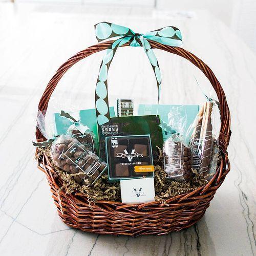 V Chocolates Giving Basket