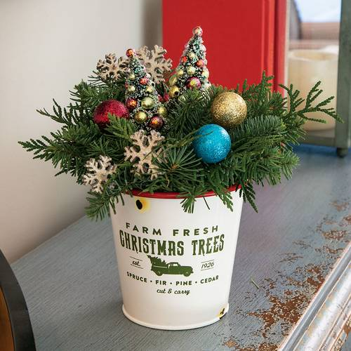 Vintage Christmas Trees Centerpiece