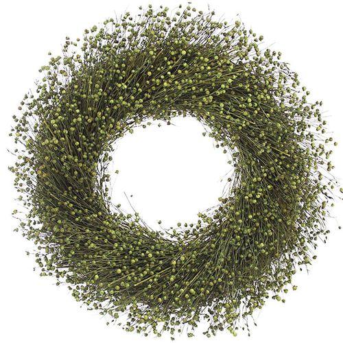 Lime Green Flax Wreath