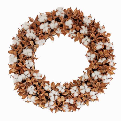 Cotton Fields Wreath